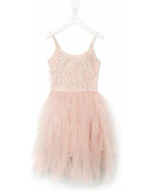 Пышное платье из фатина с перьями Tutu Du Monde