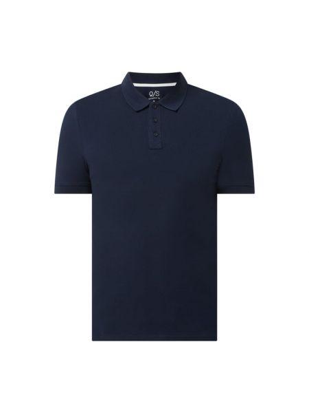T-shirt bawełniana - niebieska Q/s Designed By