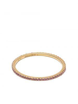 Золотистое желтое кольцо c сапфиром Carolina Bucci