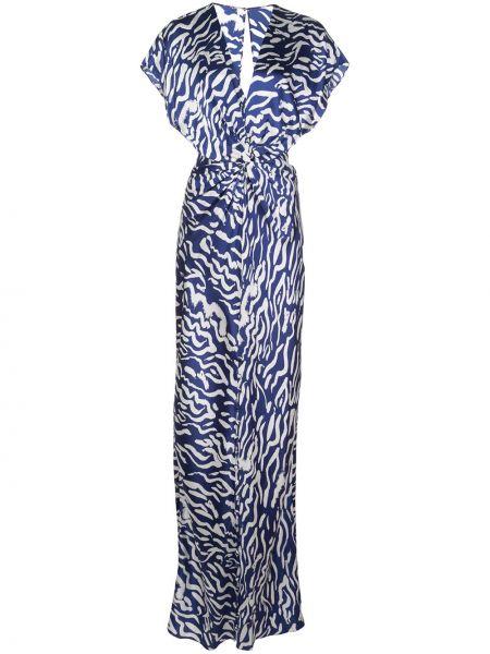 Платье на пуговицах с V-образным вырезом Prabal Gurung