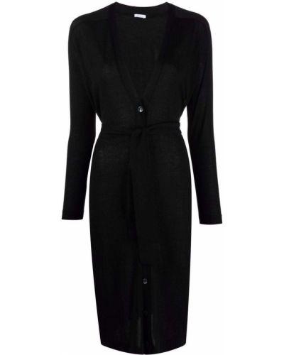 Черное кашемировое пальто Malo