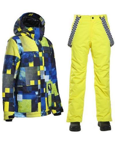 Флисовый костюм - желтый Gsou Snow