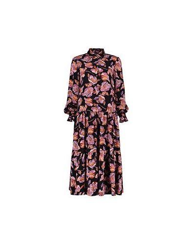 Платье из вискозы - оранжевое Poustovit