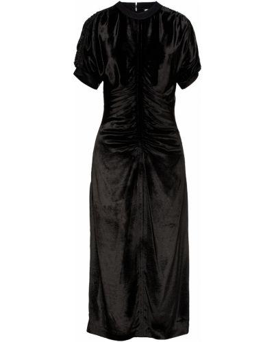 Бархатное платье миди - черное Paul Smith