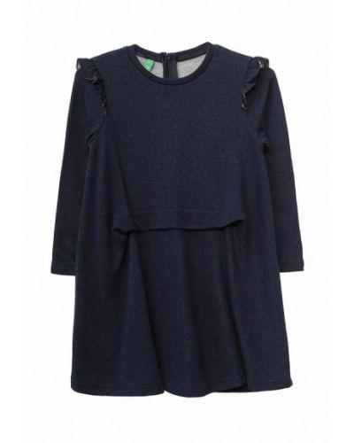 Синее платье осеннее United Colors Of Benetton