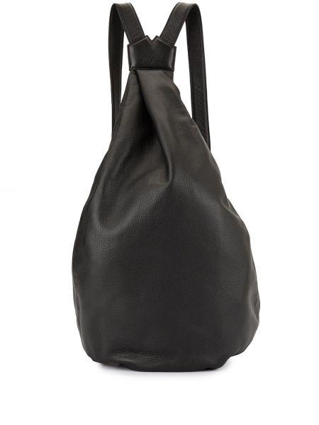 Черная кожаная сумка на молнии с карманами на бретелях Discord Yohji Yamamoto