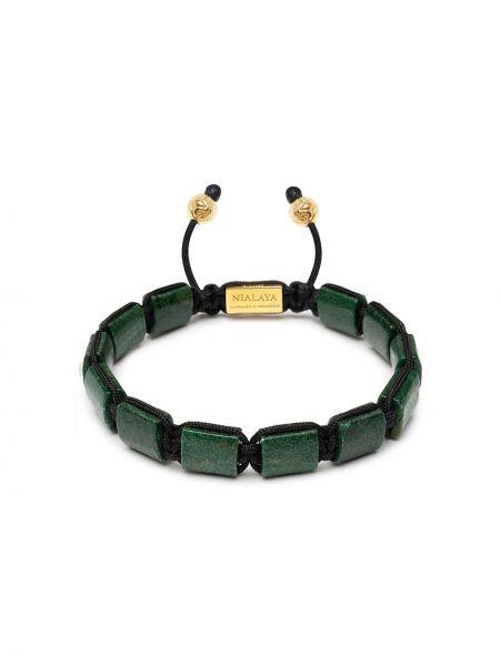 Брендовый серебряный браслет с бисером Nialaya Jewelry