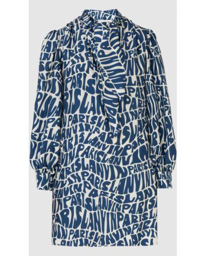Шелковое платье миди - синее Lanvin