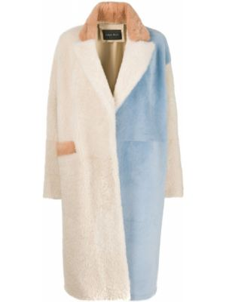 Свободное шерстяное длинное пальто с капюшоном Cara Mila