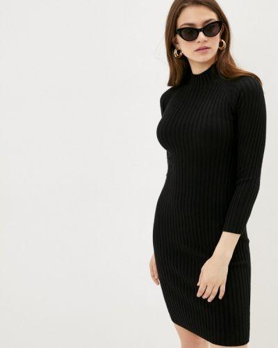 Хлопковое прямое черное платье Fresh Cotton