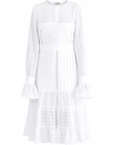 Платье миди на пуговицах батистовое A La Russe