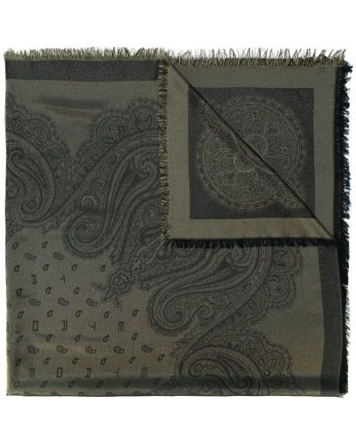 Платок из шелка с узором пейсли Etro