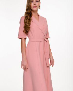 Летнее платье розовое классическое Nikol