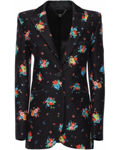 Хлопковый черный пиджак с карманами Paco Rabanne