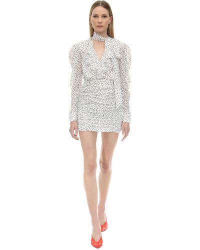 Sukienka mini w grochy z długimi rękawami z szyfonu Marianna Senchina