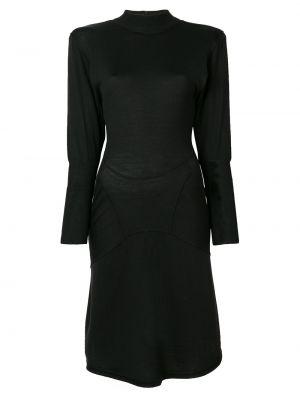 Приталенное платье мини на кнопках винтажное с воротником Alaïa Pre-owned
