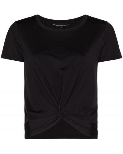 Черная футболка с вырезом Goldbergh