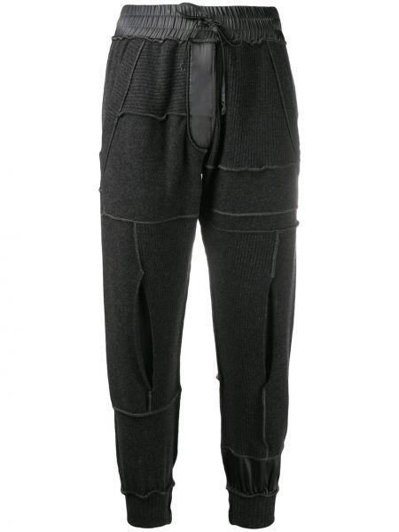 Спортивные серые шелковые спортивные брюки с поясом Andrea Ya'aqov