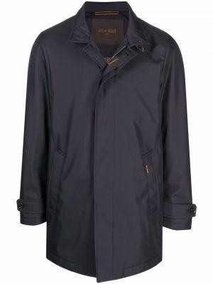 Синее пальто длинное Moorer