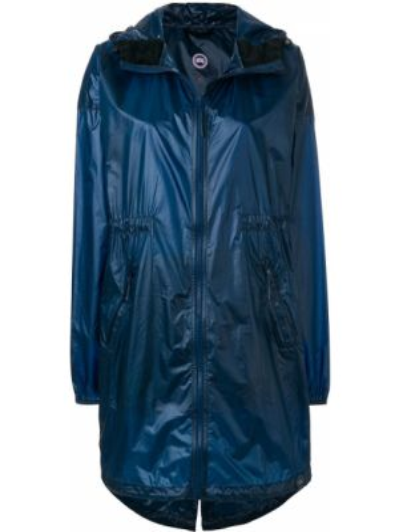 Синяя нейлоновая куртка с капюшоном свободного кроя Canada Goose
