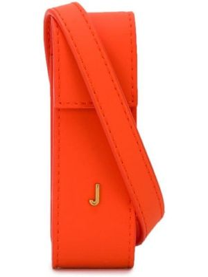 Красная маленькая сумка с пряжкой Jacquemus