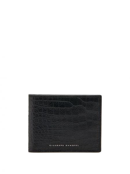 Czarny portfel skórzany miejski Giuseppe Zanotti