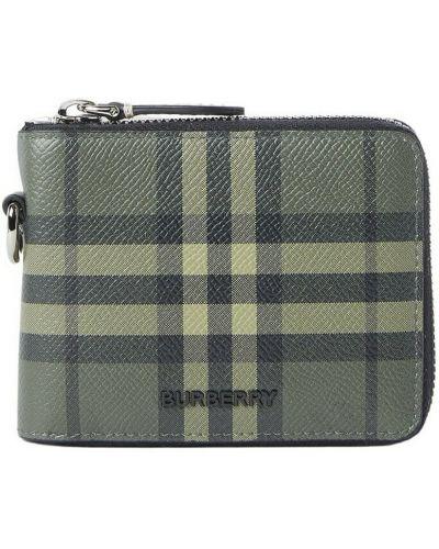Zielony portfel skórzany Burberry