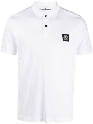 Рубашка с коротким рукавом - белая Stone Island Junior