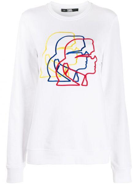 Топ с вышивкой в рубчик Karl Lagerfeld
