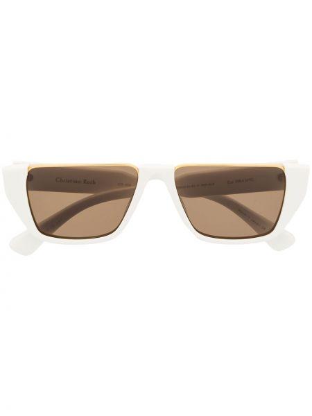 Прямые муслиновые солнцезащитные очки квадратные хаки Christian Roth