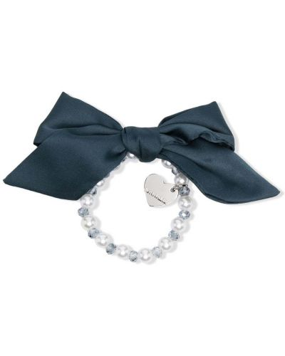 Niebieska bransoletka srebrna perły Monnalisa