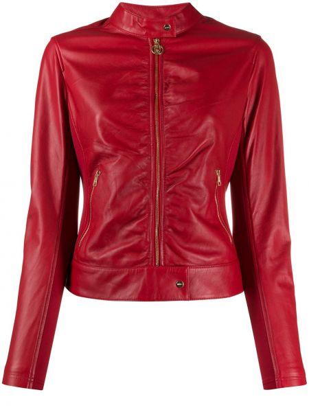 Кожаная куртка на молнии с карманами Liu Jo
