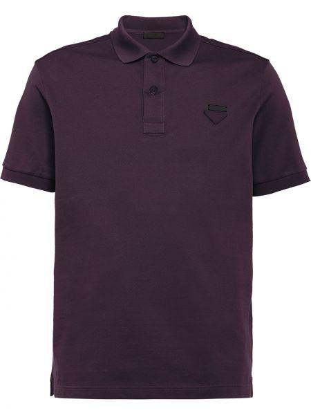 Koszula krótkie z krótkim rękawem klasyczna z logo Prada