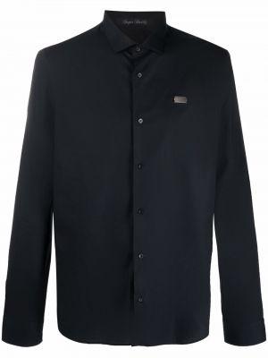 Czarna koszula zapinane na guziki Philipp Plein