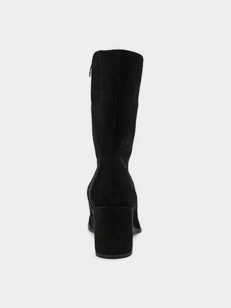 Черные кожаные сапоги Ecco