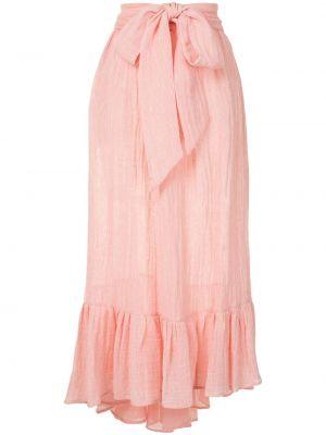 Розовая юбки-пачки льняная юбка Lisa Marie Fernandez