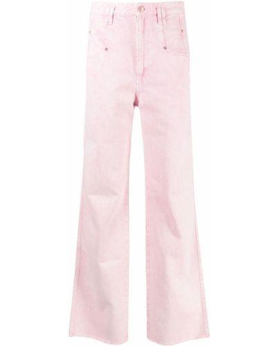 Niebieskie jeansy z wysokim stanem bawełniane Isabel Marant