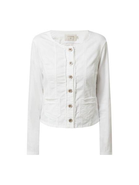Kurtka jeansowa z frędzlami - biała Cream
