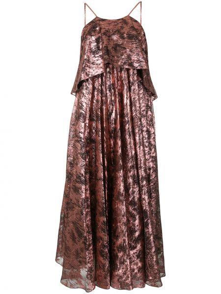 Różowa sukienka rozkloszowana Halpern