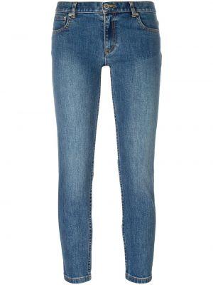 Хлопковые синие укороченные джинсы A.p.c.