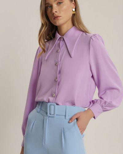 Koszula materiałowa - fioletowa Renee