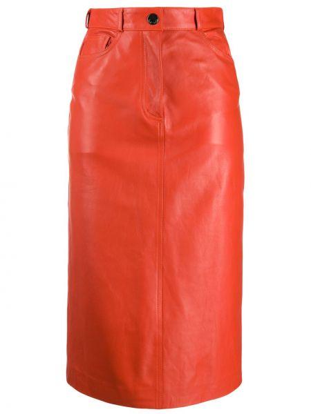 Классическая юбка миди с карманами в рубчик с рукавом 3/4 Paul Smith