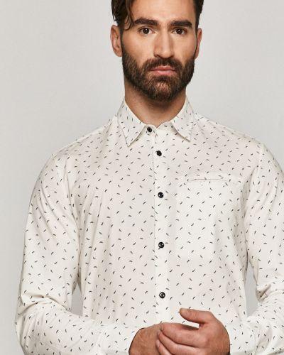 Белая классическая рубашка с воротником с длинными рукавами Medicine