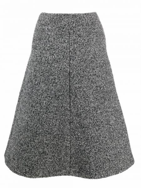Трикотажная юбка миди - серая Beaufille