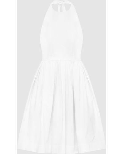 Белое платье мини Prada