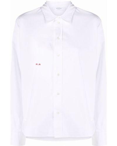 Белая длинная рубашка с воротником на пуговицах Roseanna