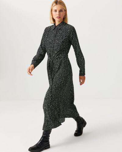 Черное платье с принтом Sela