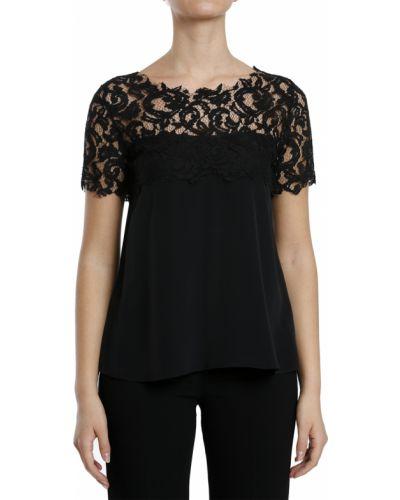 Шелковая футболка - черная Frankie Morello