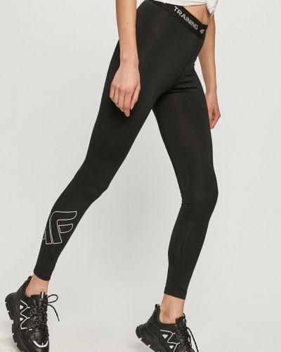 Czarne spodnie dzianinowe 4f