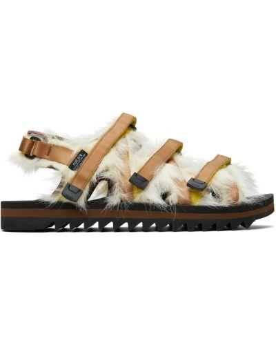 Złote sandały - białe Suicoke